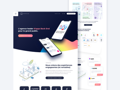 AppStud Homepage illustration ergonomy ux ui mobile application appstud homepage redesign mobile app
