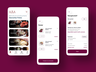 Butcher's shop - Click and Collect ergonomy design opp.la butcher click and collect ui ux mobile