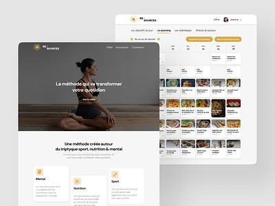 Re/Sources 👟 🍏 🧠 nutrition mental sport ergonomy ui ux design desktop mobile