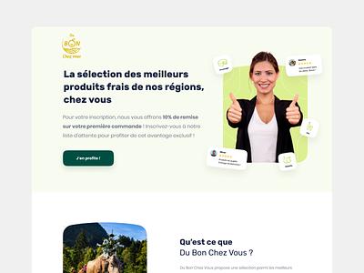 Du Von Chez Vous ergonomy branding food lynkt appstud e-commerce ui design ux mobile