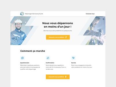 Landing page - Fauché Group webapp web uxui appstud marketplace landingpage branding ergonomy design app ui ux mobile