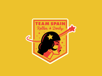 Team Spain Roller Derby Badge