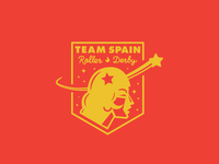 Team Spain Roller Derby red/yellow