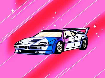 BMW M1 e26 Procar shiny automotive automobile supercar races car bmw