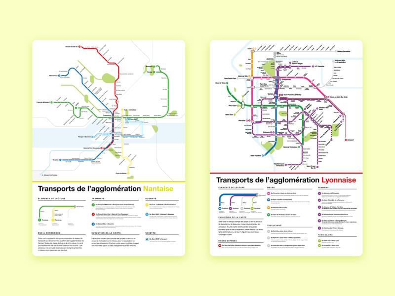 Transit maps maps lyon nantes transit map poster
