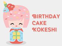 Kokeshi Doll - Birthday Girl