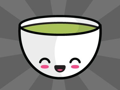 Green Tea green tea tea japanese kawaii drink vector