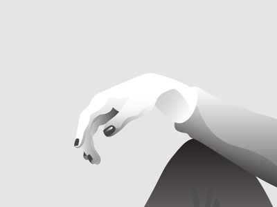 Hand grey black and white blackandwhite bnw nails hand vector design flat girl character woman illustration