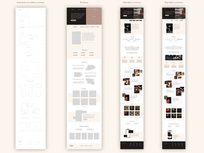Chefio - Concept web design luxurious luxury beige desktop mobile app ui ux web website design case studies chef food wireframe high fidelity low fidelity landing page webdesign web design mockup case study casestudy