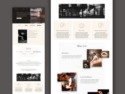 Icons for Landing Page concept custom icons mockup concept research restaurant app restaurant food webdesign website design web design web website icon luxury brand luxurious luxury design luxury icons landing page design landing page