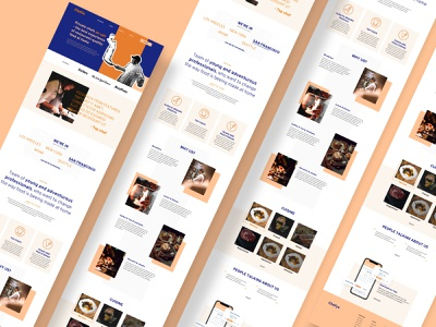 """Chefio - Concept Landing Page - """"Bold & Edgy"""" menu location chef details high fidelity icons template wireframe web design website uiux brand identity value proposition services food landing page branding logo"""