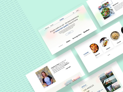 "Concept web design ""Chefio"" - Fresh trends gradient flat design uiux menu for food startup food branding fresh modern clean website web design graphic design concept landing page hero selector"