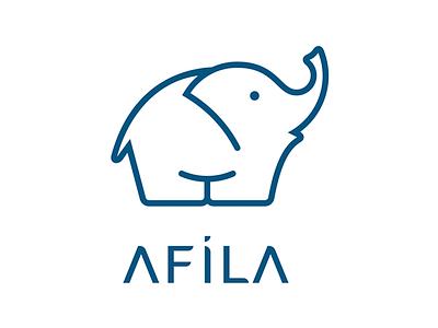 Afila Logo design logo elephant fil