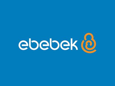 ebebek, logo design logo baby mother