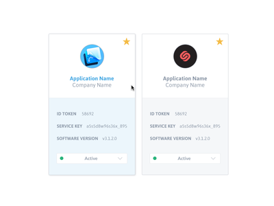 Favorites Applications favorites apps dashboard states aerolab cards hover states