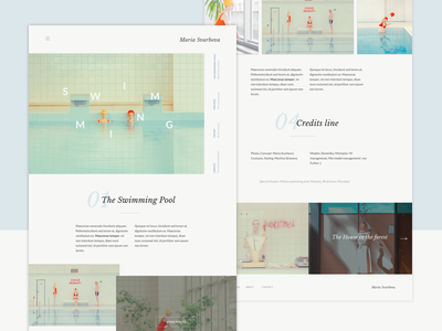 Photographer Site_Layout Practice art direction interactions motion ui animation photographer site maria svarbova landing layout