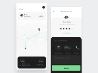 Taxi App - On Trip & Give Rating