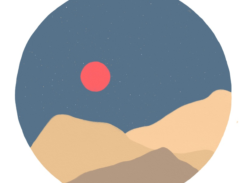 Red Moon art procreate landscape illustration mountain mountains landscape branding poster design flyer illustration