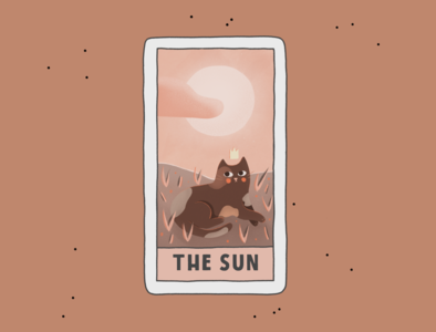 The Sun sun tarot card tarot cat comic comic art create cartoon branding procreate illustration advertisement art design poster flyer