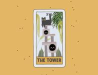 The Tower plant concept creative cards card comic poster design tarot art logo cat cartoon branding procreate illustration