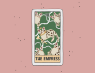 The Empress tshirt procreate illustraion card cards cat tarot create comic logo flyer poster design advertisement branding