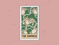 The Empress tshirt procreate illustraion card cards cat tarot create comic logo flyer poster design advertisement branding