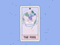 The Fool card comic cartoon design poster cards tarot cat create advertisement illustration procreate branding