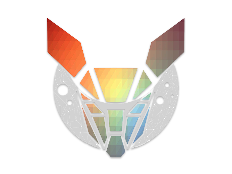 Deer on the Moon handdrawn drawn hand moon deer rainbow polygonal polygon logo