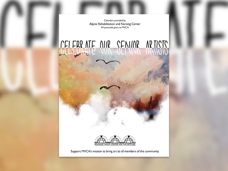 Mohawk Valley Senior Calendar art birds pastel advertisement create design clouds calendar poster flyer