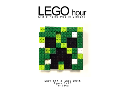 Lego Hour videogame game lego photography pixel advertisement poster flyer creeper minecraft