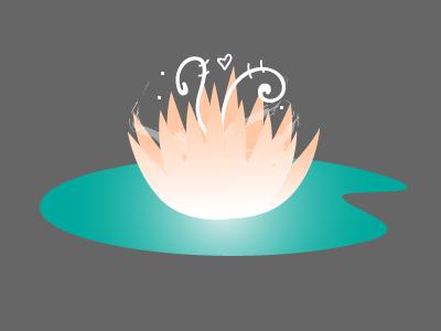 Lilypad Magic heart green pink element adobe illustrator smoke bright swirl icon magic flower