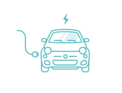Electric Car Charging 02 charging electric car design vector illustration illustrator ui