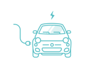 Electric Car Charging 02 charging electric car design vector illustration illustrator ui
