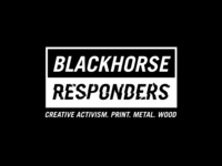 Logos that didn't make the cut branding brand logo responders horse black workshop youth urban grit monochrome monogram distressed typography illustrtion black and white logo vector blackandwhite