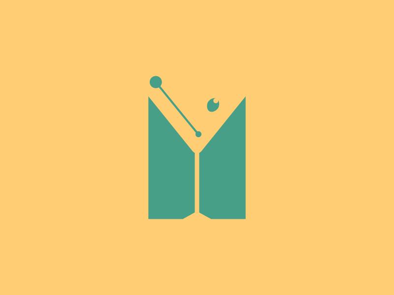 #Typehue Week 13: M martini negative logo lettering lighthouselondon typehue