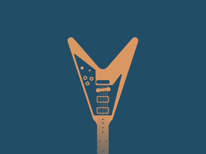#Typehue Week 22: V type typehue monogram vector logo lighthouselondon lettering v flying gibson guitar