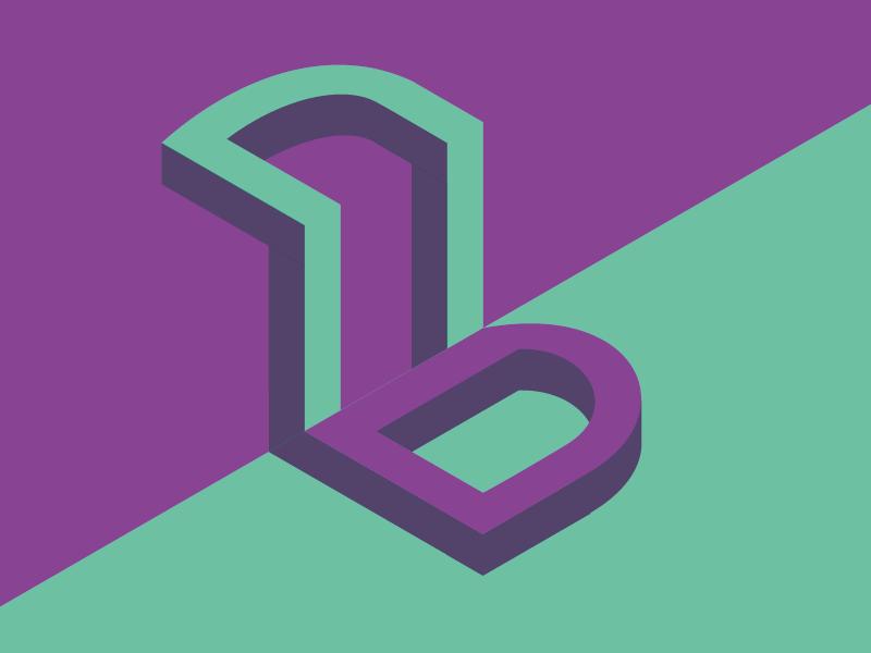 #Typehue 2: B 3-d geometric design typography type b