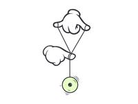 #Typehue Week 25: Y typehue hands yo yo-yo illustration type design