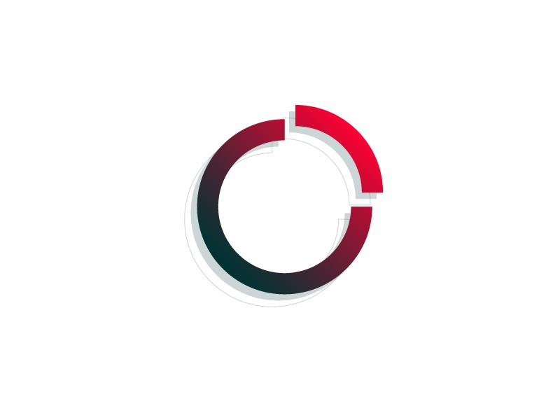 #Typehue Week 27: 0 circle red illustrator 3-d gradient vector typography type design numbers zero 0