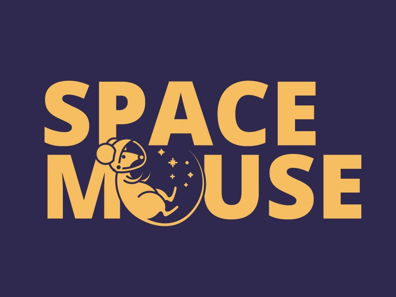 #Typehue Brandom Week 1: SpaceMouse design type illustrator purple yellow space mouse lighthouse brand logo vector