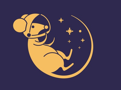 SpaceMouse - close up yellow vector type space purple mouse logo lighthouse illustrator design brand