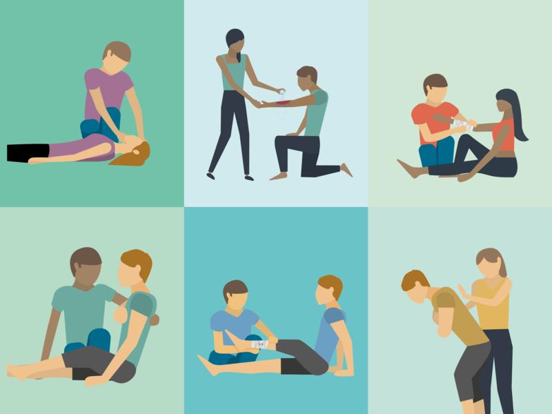 First Aid illustrations illustrator pastel illustration vector
