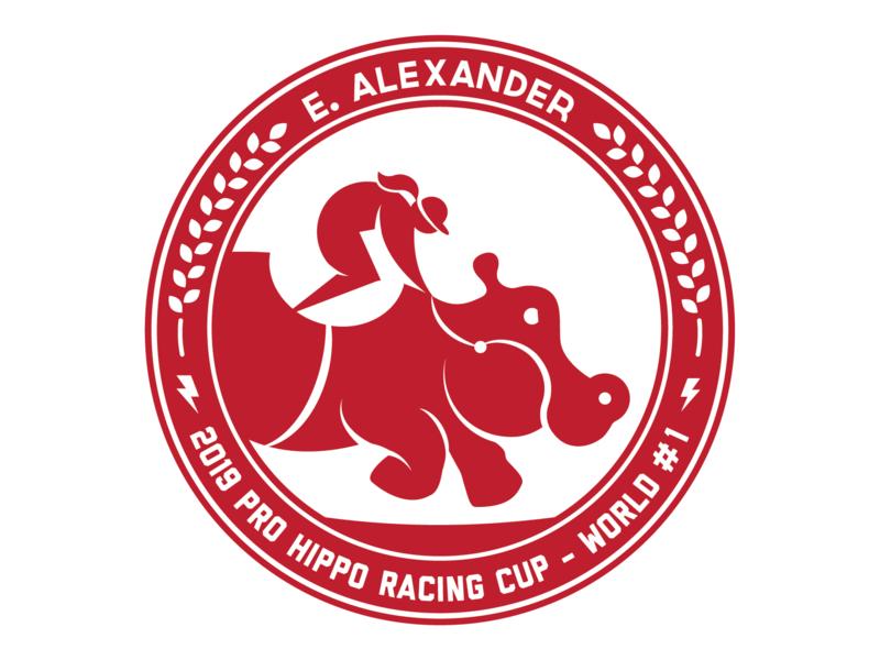 Pro Hippo Racing Team Logo team womens racing speed mono design illustration vector logo racing hippo