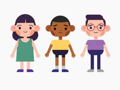 Character Design vector design characters character children kids character design affinity designer illustration vector design