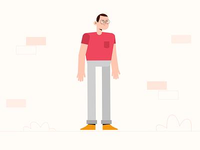 Minimal Character Design motion design character animation animation character design affinity designer illustration vector design