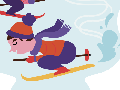 Detail Christmas card 2015 happy holidays wintersport winter ski santa christmas