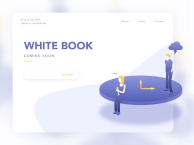 Teasing white book ssilbi teasing design gradient flat vector illustration interface ui whitebook