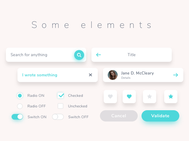 Ui elements suite