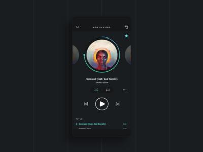 Music Player Dark ssilbi design ui challenge dark sound playlist player music