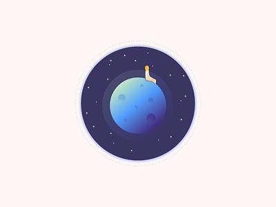 Look beyond 2 serie univers planet gradient flat art mood illustration